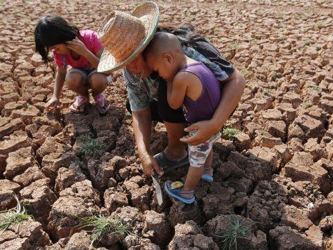 Sequía y niños