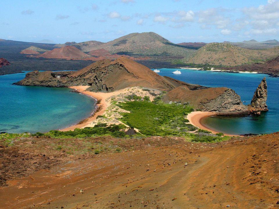 Isla Santafé en el archipiélago Galapagos