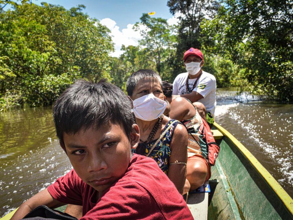 indígenas Matis de Brasil,