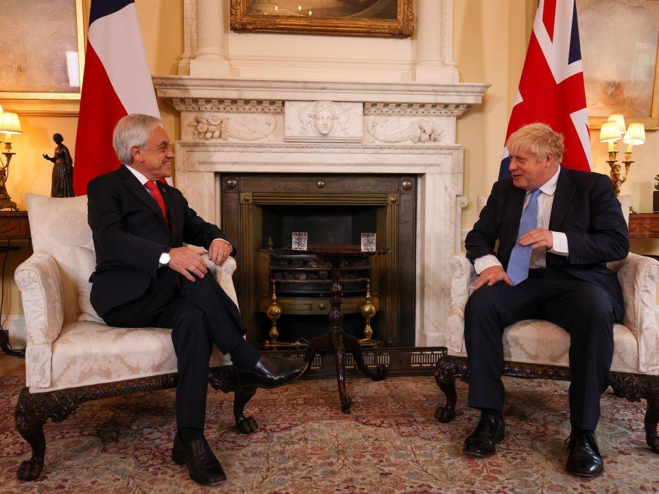 Sebastián Piñera y Boris Johnson