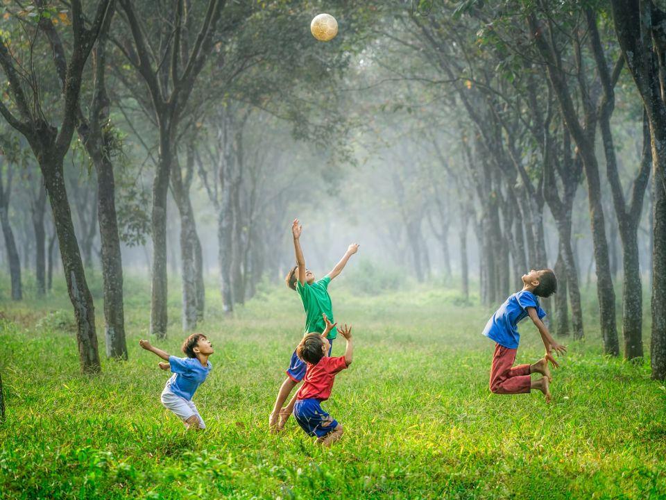 Espacios verdes y niños